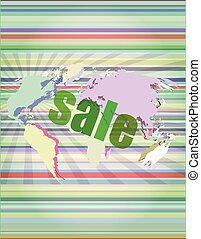 sale percentage on business digital touch screen vector illustration