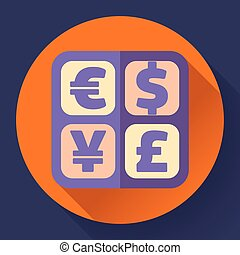 Currency exchange sign icon and converter symbol. Money...