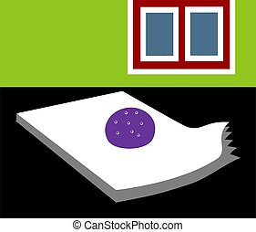 paperweight - Illustration of a paperweight on op of papers...