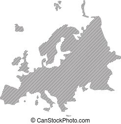 concept  vector map of Europe