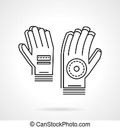 Sport gloves thin line design vector icon - Sport gloves...