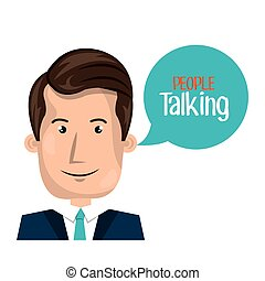 people talking design, vector illustration eps10 graphic