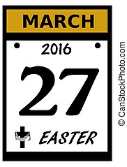 2016 Easter date icon - 2016 Easter calendar date icon