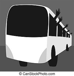 bus - Illustration of travelling in the bus