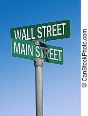 wall street main street
