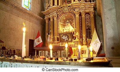 Church In Abbey Santa Catalina, Peru