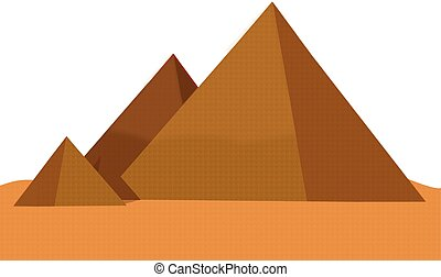 Giza Pyramids - an abstract illustration of the three Giza...