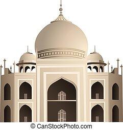 Taj Mahal - a colorful illustration of the Taj Mahal