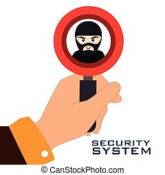 security system design - security system design, vector...