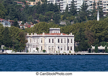 Building in Bosphorus Strait - building in Bosphorus Strait,...