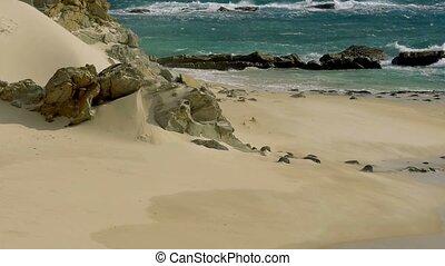 200 FPS Real Slowmo, Nice beach with slowmo water waves