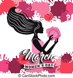 happy womens day design - happy womens day design, vector...