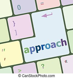 Computer keyboard keys with approach word on it vector illustration