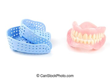 Denture and trays - acrylic denture and acrylic trays...