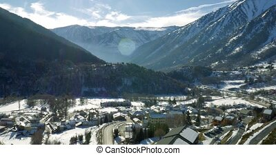 4K, Snowy mountains of Andorra