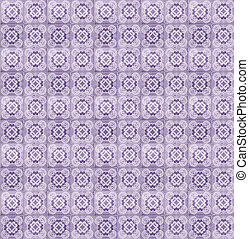 Collage of lilac pattern tiles in Portugal - Collage of...
