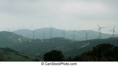 4K, Wind Energy Plantation In Spain - Shot is additionally...