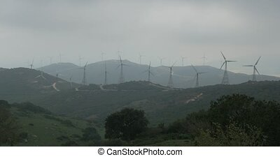 4K, Wind Energy Plantation In Spain - Shot is straight out...