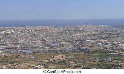 Malta, Valletta city aerial view - Aerial establishing shot...