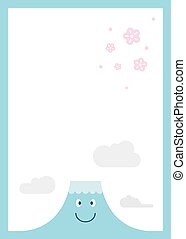 MT Fuji with cherry blossom vector by EPS 10