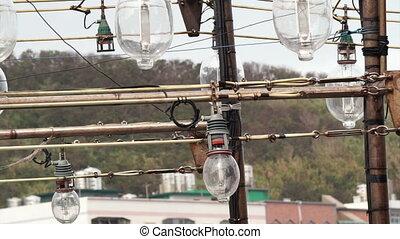 Fishing boat lamps for fishing squid - Fishing boat light...