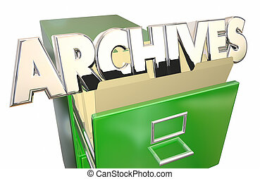 Archives Old Records Data File Folders Cabinet History