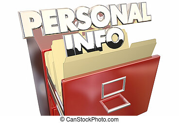 Personal Info File Folder Cabinet Sensitive Secret Private...