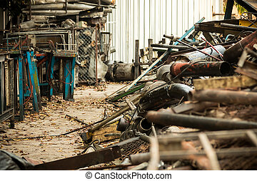industrial waste - metal industrial waste from abandon...