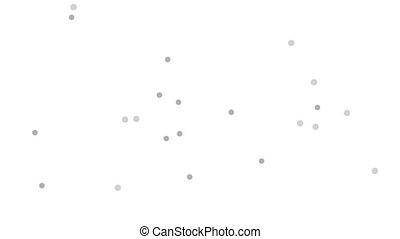Abstract grey dots chaotic motion design. Video animation HD...