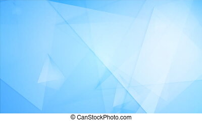 Light blue tech geometric polygonal video animation - Light...