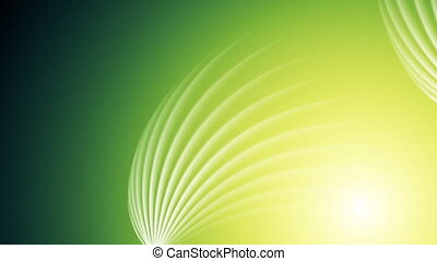 Bright green shiny swirl abstract video animation
