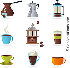 Coffee icons set - 1 - Collection of coffee related icons