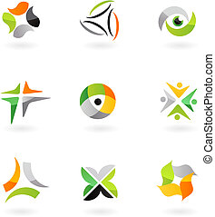 Abstract icon set - 8