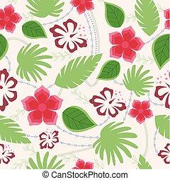 Hawaiian seamless pattern vintage - Vector hawaiian seamless...