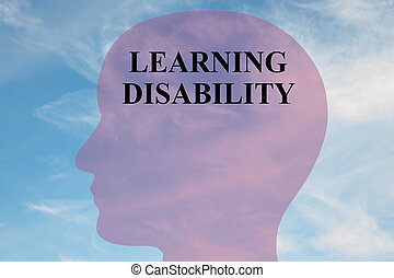 Learning Disability concept - Render illustration of...
