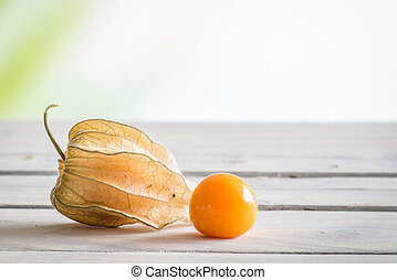 Peruvian groundcherry on a table