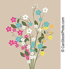 forget me not flowers, flowers bouquet, spring flowers,...