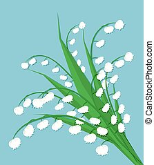 Lily of the valley, cute bouquet of flowers. spring flowers,...