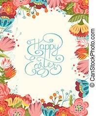 Happy Easter card. - Hand lettering Happy Easter card....