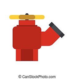 Fire hydrant with valve icon