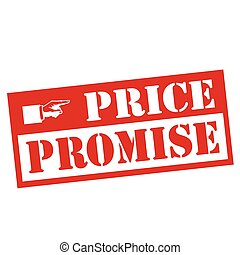 Price Promise-stamp - Red stamp with text Price...