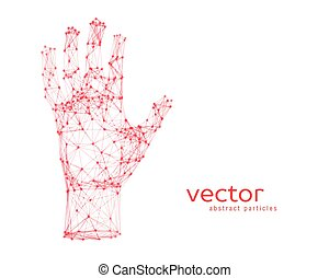 Vector illustration of human arm - Abstract vector...
