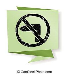 no left turn doodle