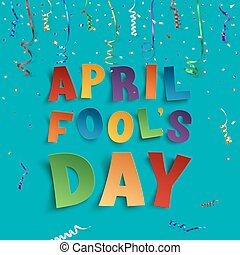 April Fools Day background template. - April Fools Day...