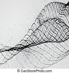 3D ink stylized digital wave