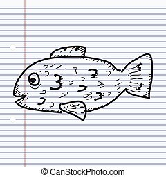 Simple doodle of a fish