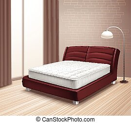 Mattress Bed In Home Interior - Double mattress bed in home...