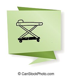 hospital bed doodle
