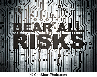 Insurance concept: circuit board with Bear All Risks -...