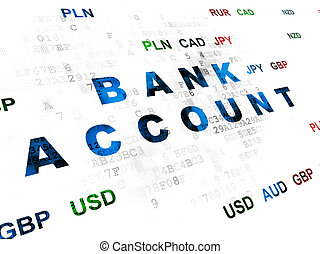 Currency concept: Bank Account on Digital background -...
